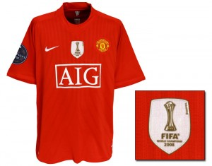 07-09 Mancester United Champions League Home Shirt