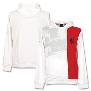 08-09 AC Milan Hooded Top White Red