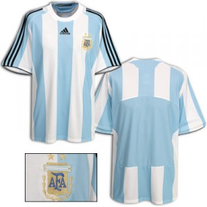 08-09 Argentina Home Shirt