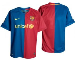 08-09 Barcelona Home Shirt