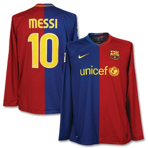 08-09 Barcelona Home Shirt Messi 10