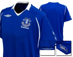08-09 Everton Home Shirt Kids