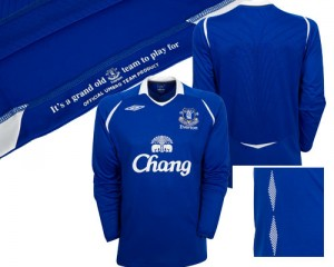 08-09 Everton Home Shirt Long Sleeve