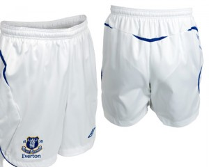 08-09 Everton Home Shorts Kids