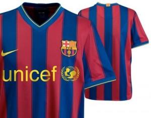 09-10 Barcelona Home Shirt