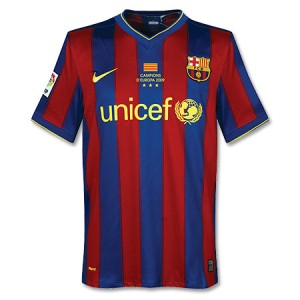 09-10 Barcelona Home Shirt Winners Transfer