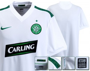09-10 Celtic International Away Shirt Including Sponsor