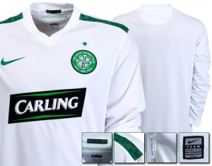 09-10 Celtic International Away Shirt Includin Sponsor Long Sleeved