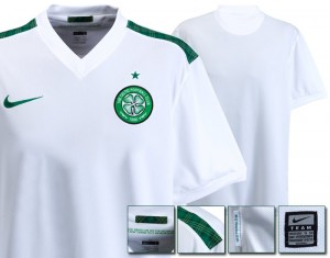 09-10 Celtic International Away Shirt Kids