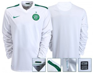 09-10 Celtic International Away Shirt Without Sponsor Long Sleeved