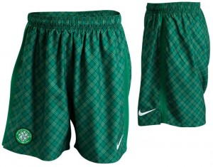 09-10 Celtic International Away Shorts Kids