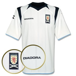 09-10 Scotland Away Shirt