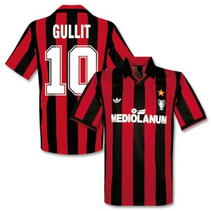 Adidas Originals 90-91 AC Milan Cup Winners Shirt Gullit 10