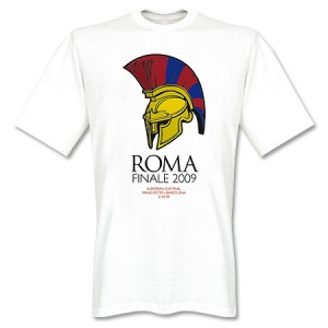 Barcelona Finale Rome 2009 T-Shirt White