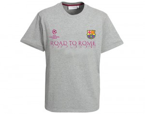 Barcelona Road To Rome T-Shirt Grey