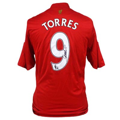 Liverpool Home Shirt Signed By Fernando Torres