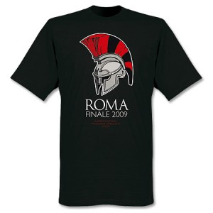 Manchester United Finale Rome 2009 T-Shirt Black
