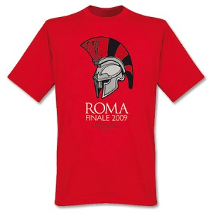 Manchester United Finale Rome 2009 T-Shirt Red