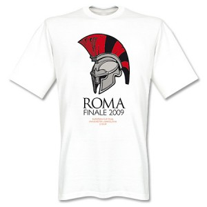 Manchester United Finale Rome 2009 T-Shirt White