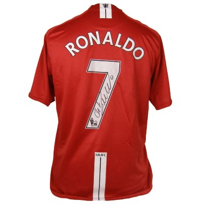 Manchester United Home Shirt Signed By Cristiano Ronaldo