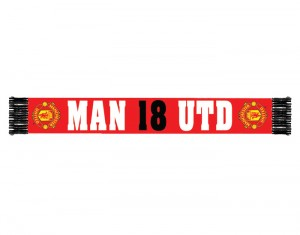 Manchester United Premier League Champions 08-09 18 Scarf Red Black
