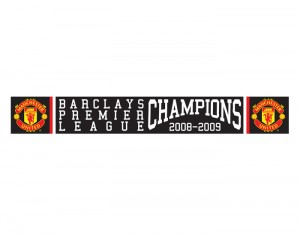 Manchester United Premier League Champions 08-09 Scarf Black