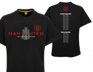 Manchester United Premier League Champions 08-09 T-Shirt Black