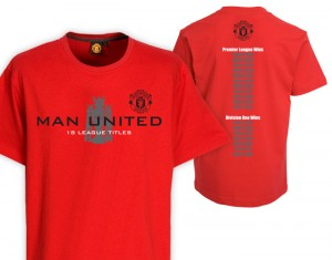 Manchester United Premier League Champions 08-09 T-Shirt Red