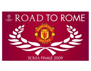 Mancester United Road To Rome Flag
