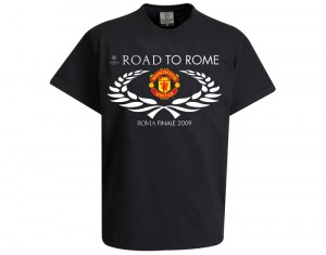 Manchester United Road To Rome T-Shirt Black