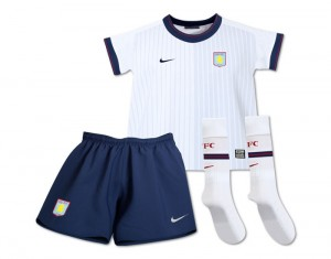 09-10 Aston Villa Away Kit Little Kids