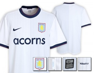 09-10 Aston Villa Away Shirt Kids