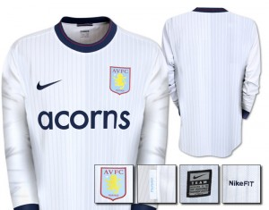 09-10 Aston Villa Away Shirt Long Sleeved