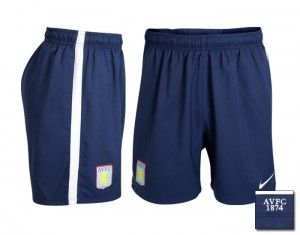 09-10 Aston Villa Away Shorts Kids