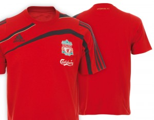 09-10 Liverpool Training T-Shirt Light Scarlet/Phantom