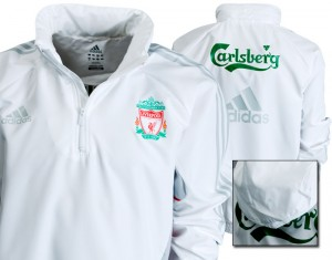 09-10 Liverpool Wind Jacket White/Light Scarlet