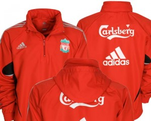 09-10 Liverpool Windbreaker Jacket Light Scarlet/Light Onix
