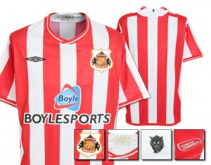 09-10 Sunderland Home Shirt
