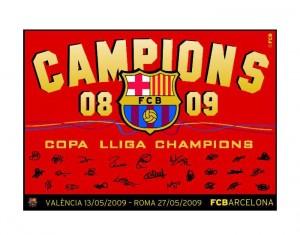 Barcelona Champions 08-09 Flag