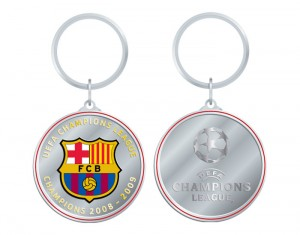 Barcelona Champions League Winners 08-09 Circular Keyring Boxed