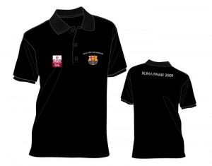 Barcelona Champions League Winners 08-09 Polo Shirt Black