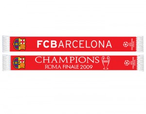 Barcelona Champions League Winners 08-09 Scarf Red