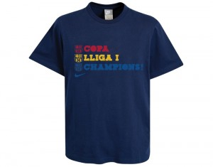 Barcelona Treble Victory T-Shirt