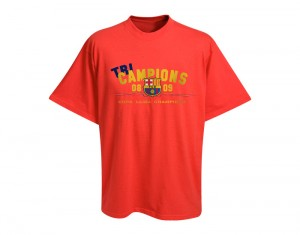Barcelona Tricampions T-Shirt Red