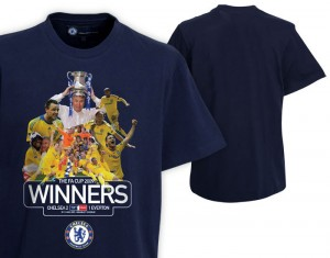 Chelsea FA Cup Winners Photo T-Shirt 2009 Navy