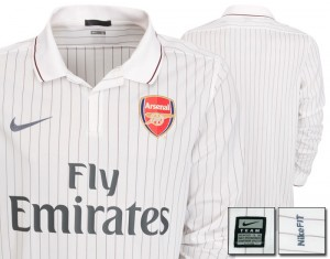 09-10 Arsenal Third Shirt Long Sleeved