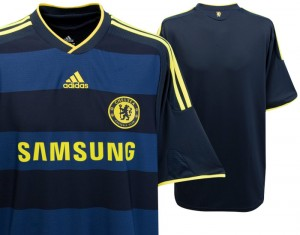 09-10 Chelsea Away Shirt Kids