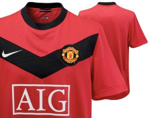 09-10 Manchester United Home Shirt Kids