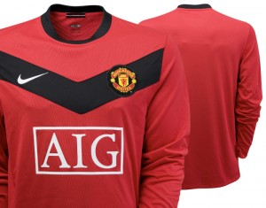09-10 Manchester United Home Shirt Long Sleeved Kids