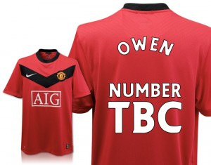 09-10 Manchester United Home Shirt With Michael Owen's Name And Number